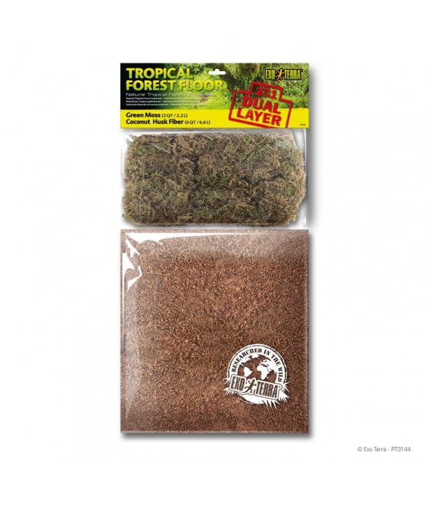 Sustrato Doble Capa Forest Floor Exo Terra Quot Green Moss